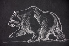Проиллюстрированный медведь Стоковые Изображения