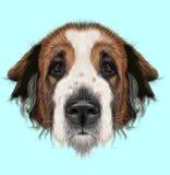Проиллюстрированный портрет собаки сторожевого пса Москвы бесплатная иллюстрация