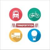 Проиллюстрированный транспорт Стоковые Фотографии RF