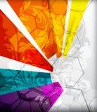 Проиллюстрированный цветастый план с абстракцией Стоковая Фотография RF