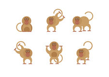 Проиллюстрируйте смешную обезьяну Стоковое Изображение RF
