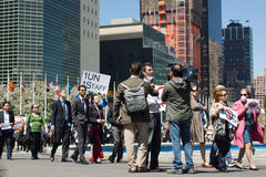 Пройденный маршем в протест Стоковое фото RF