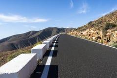 Пройдите Канарские острова Фуэртевентуру Betancuria дороги Стоковая Фотография