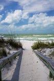 Пройдите пляж Флориды гриля Стоковые Фото