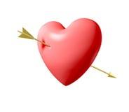 прокалыванное сердце Стоковые Фотографии RF