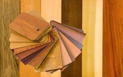 прокатанные образцы материалов деревянные Стоковое фото RF