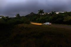 Прокатный автомобиль около Candelaria на Кубе Стоковые Фотографии RF