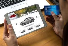 Прокаты автомобиля Transportati кораблей автомобиля продавца проката автомобиля Стоковое фото RF