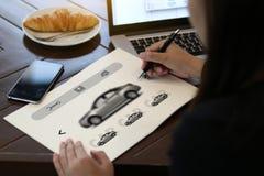 Прокаты автомобиля Transportati кораблей автомобиля продавца проката автомобиля Стоковое Изображение RF
