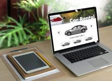 Прокаты автомобиля Transportati кораблей автомобиля продавца проката автомобиля Стоковые Изображения RF