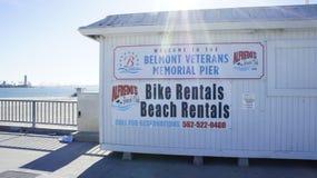 Прокаты велосипедов, прокаты пляжа Стоковая Фотография RF