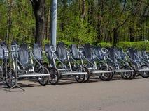 Прокат велосипеда в парке Стоковое фото RF