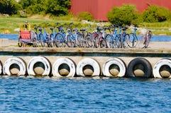 Прокат велосипеда Стоковые Фотографии RF