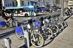 Прокат велосипеда Стоковое фото RF