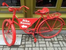 Прокат велосипедов стоковое изображение rf