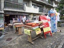 Прокат кимоно и оби Стоковая Фотография