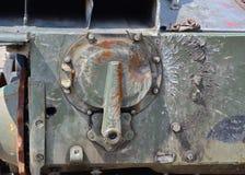 Прокалыванный панцырь военного транспортного средства Стоковые Изображения