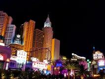 Прокладка гостиницы казино в Лас-Вегас на ноче стоковая фотография rf