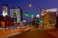 Прокладка захода солнца в западной области Голливуд Стоковые Изображения