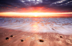 Прокладка захода солнца Стоковое Изображение