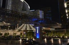 Прокладка Лас-Вегас, район метрополитена, ноча, метрополия, город стоковая фотография