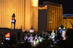 Прокладка Лас-Вегас, район метрополитена, ноча, метрополия, город стоковое фото rf