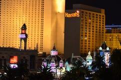 Прокладка Лас-Вегас, район метрополитена, ноча, метрополия, ориентир ориентир стоковые фото