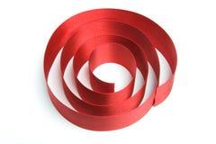 прокладка тесемки подарка красная Стоковое фото RF