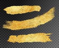 Прокладки краски золота вектора иллюстрация вектора