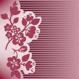 прокладки темноты ветви цветя иллюстрация вектора