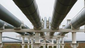 Прокладывайте трубопровод масло, природный газ или вода транспорта в трубе металла видеоматериал
