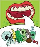 Проклиная мультфильм рта стоковые изображения