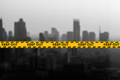 Прокладка ленты предосторежения и опасности Стоковое Изображение RF