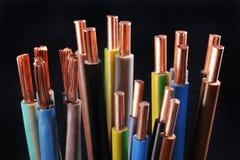 Прокладка и силовой кабель силы Стоковое Фото