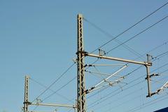 Прокладка и силовой кабель силы Стоковое Изображение RF