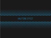 Прокладка названия влияния полутонового изображения с голубым текстом на темной серой предпосылке также вектор иллюстрации притяж Стоковое Фото