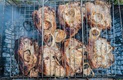 прокладка стейков стейка нервюры loin решетки delmonico Стоковое Изображение RF