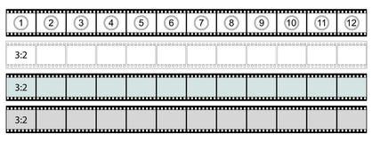 Прокладка фильма Classis - 3:2 формата - вектор Стоковая Фотография