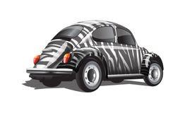 Прокладки зебры вектора цифров покрасили ретро бесплатная иллюстрация