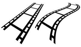 Прокладки фильма в перспективе Прямо и передернутое filmstrip иллюстрация вектора