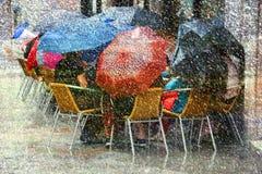 Проливной дождь и снежок стоковое изображение
