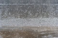 Проливной дождь на улице города Таиланд Стоковое Фото