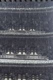 Проливной дождь с предпосылкой японской пагоды стоковое фото