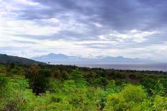 пролив моря панорамы джунглей тропический Стоковая Фотография