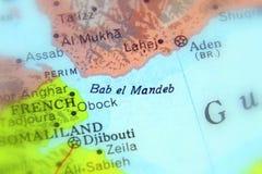 Пролив al-Mandab Bab стоковые изображения