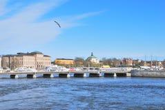 пролив stockholm norrstrom стоковое фото
