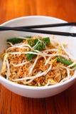 Проложите еду тайской, тайской тарелки подписи тайскую. Стоковое фото RF