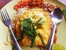 Проложите ручки тайских или жареных рисов стоковые изображения rf