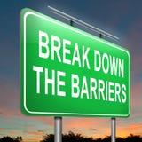 Пролом вниз с барьеров. Стоковая Фотография