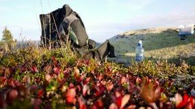 пролом hiking взятие стоковые изображения rf